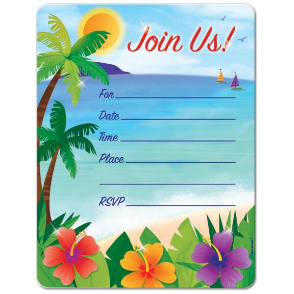 Beach Birthday Invitations Ideas – Bagvania FREE Printable Invitation Template