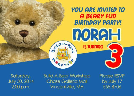 Build a Bear Birthday Barty Invitations Ideas Bagvania FREE – Build a Bear Invitations Birthday