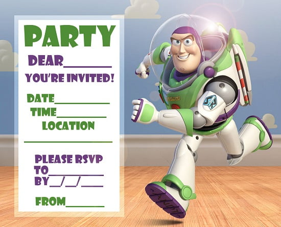 buzz lightyear birthday invitations ideas free printable