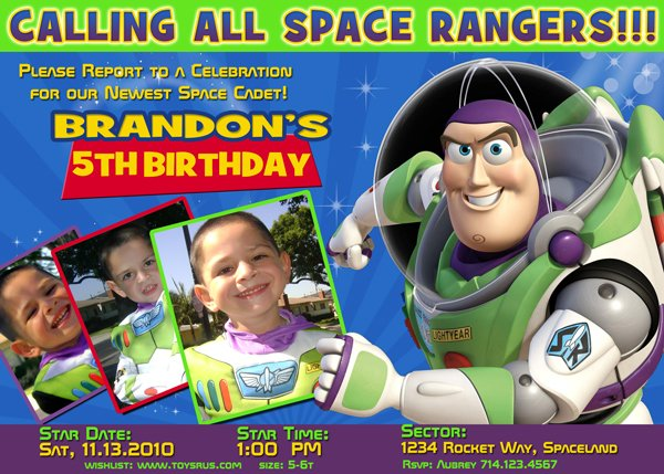 buzz lightyear birthday invitations ideas wording