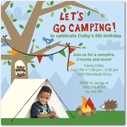 Camping birthday party invitations with photo bagvania free camping birthday party invitations with photo filmwisefo