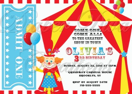 carnival birthday party invitations ideas – bagvania free, Birthday invitations