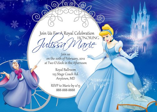 Cinderella birthday invitations ideas bagvania free for Cinderella invitation to the ball template