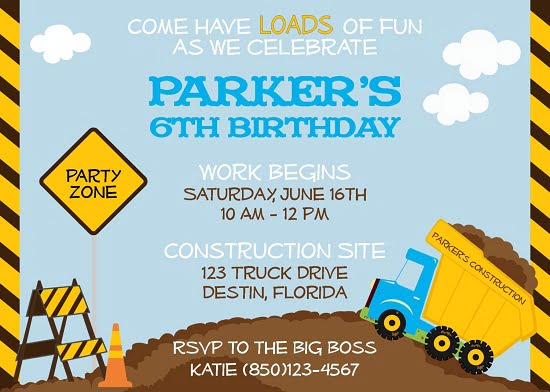 photo regarding Free Printable Construction Birthday Invitations known as composition dump birthday bash invites Cost-free