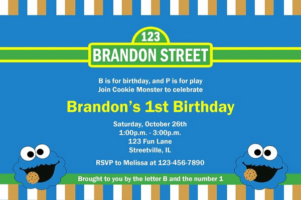 Cookie Monster Invitations is Best Ideas To Create Lovely Invitations Layout