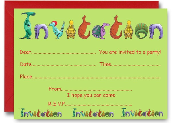dinosaur birthday party invitations ideas – bagvania free, Birthday invitations