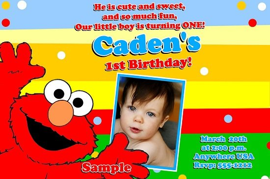 Elmo Birthday Party Invitations Girl