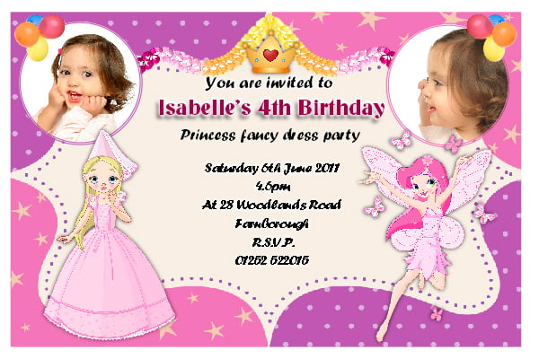 fairy 4th birthday invitations