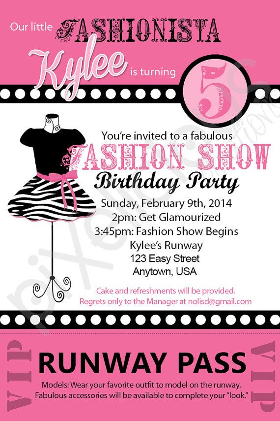 Fashion show birthday party invitations ideas bagvania free fashion show 5th birthday party invitations ideas filmwisefo Gallery