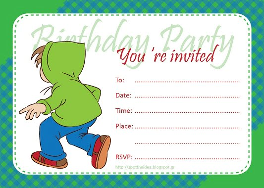 fill in birthday invitations for boy