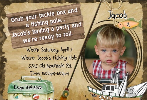 fishing birthday invitations boys