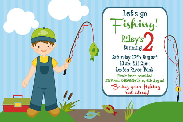fishing birthday invitations for kids