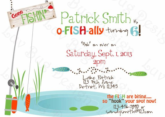 Fishing Birthday Invitations Ideas – Bagvania FREE