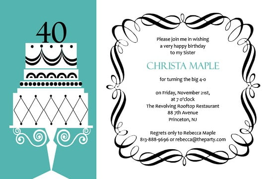 Formal Birthday Invitations Ideas Bagvania FREE