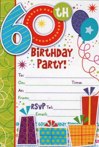 60th birthday invitations template