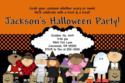 halloween birthday invites for kids