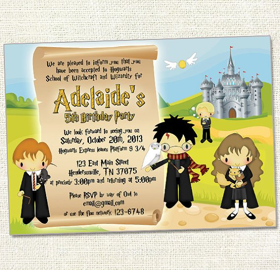 Harry Potter Birthday Invitations Printable Bagvania FREE - Birthday invitations harry potter printable