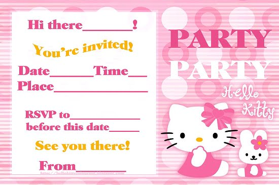 Hello Kitty Birthday Party Invitations Ideas – Bagvania ...