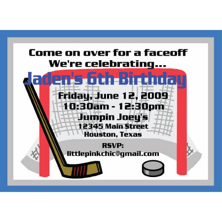 Hockey Birthday Invitations Ideas – Bagvania FREE Printable Invitation Template
