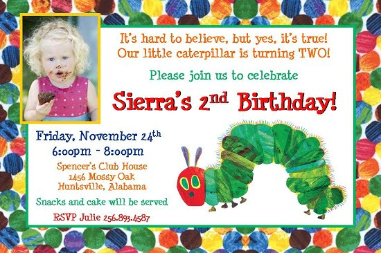 Hungry Caterpillar Birthday Invitations Ideas Bagvania FREE