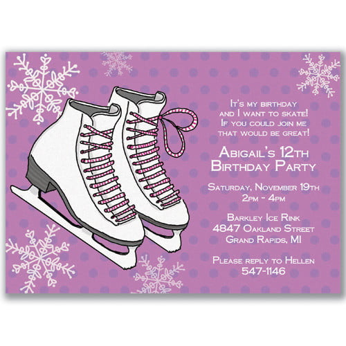 Ice skating birthday invitations ideas free printable birthday ice skating birthday invitations template filmwisefo