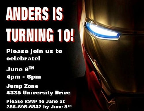 Iron Man Birthday Invitations Ideas – Bagvania FREE ...