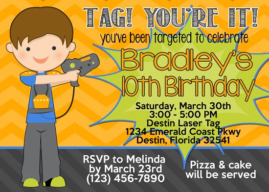 Laser tag x birthday party invitations bagvania free printable laser tag x birthday party invitations filmwisefo