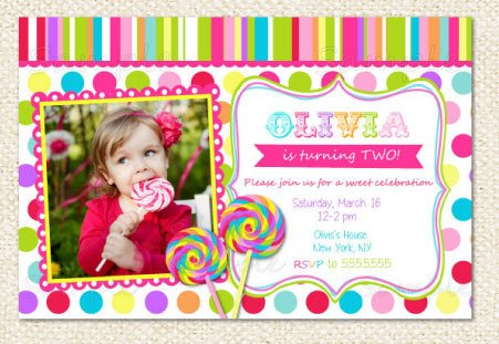 lollipop birthday invitations girls
