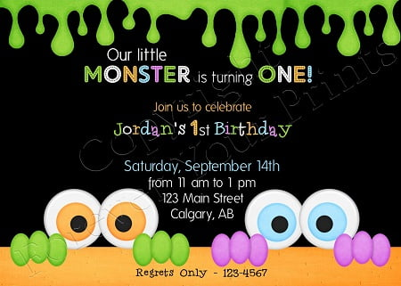 Monster Birthday Party Invitations – Monster Party Invites