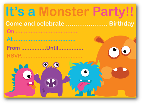 Monster Birthday Party Invitations Ideas Bagvania FREE Printable – Monster Party Invites