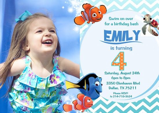 Nemo Birthday Invitations Girls FREE Printable Invitation