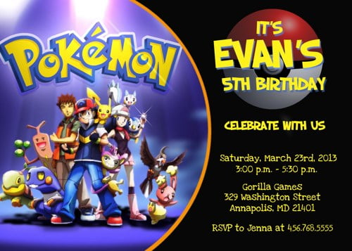 Pokemon Birthday Invitations Ideas – Bagvania FREE Printable Invitation Template