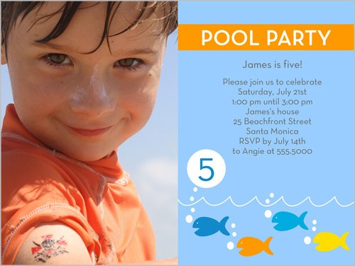 Pool Party Birthday Invitations For Boys