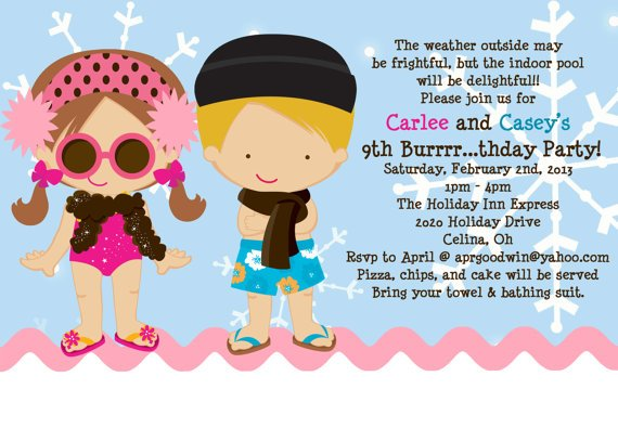 swim birthday party invitations muco tadkanews co