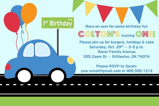 race car birthday invitations printable Bagvania FREE Printable – Free Printable Race Car Birthday Invitations