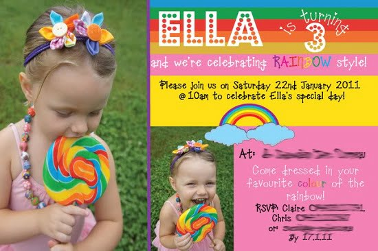 Rainbow 3rd birthday party invitations bagvania free printable rainbow 3rd birthday party invitations filmwisefo
