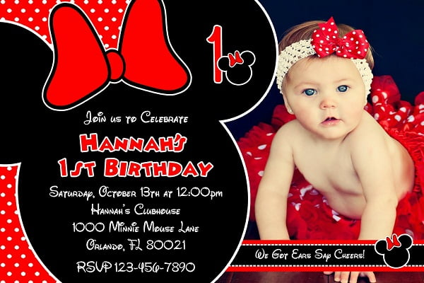 red minnie mouse birthday invitations ideas girl  u2013 free