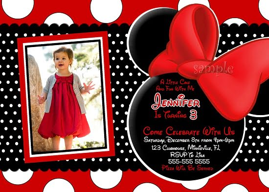 Red Minnie Mouse Birthday Invitations Ideas Bagvania FREE - Minnie mouse birthday invitation images