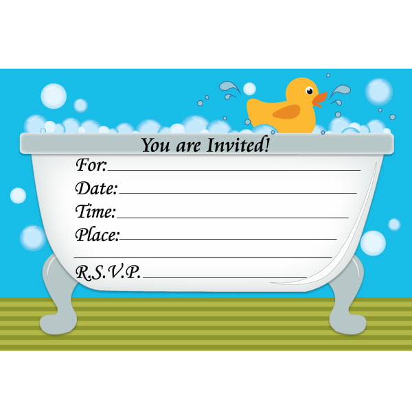 rubber ducky birthday invitations free printable Bagvania FREE