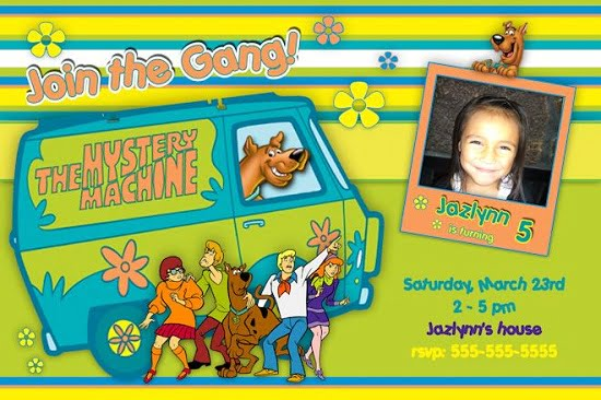 scooby doo 5th birthday invitations