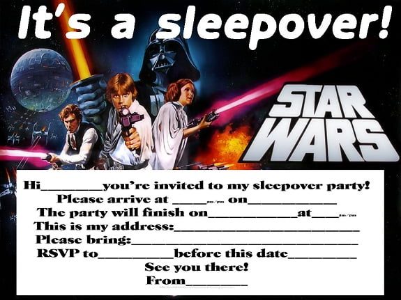Sleepover Boy Birthday Party Invitations Free Printable Free