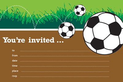 Soccer Birthday Invitations Free Printable