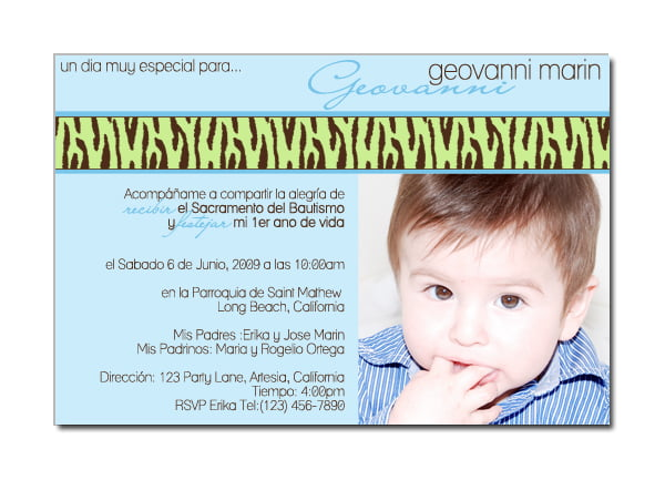 Spanish First Birthday Invitations