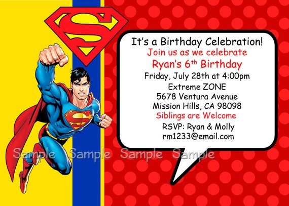 Superman Birthday Invitations Ideas Bagvania Free