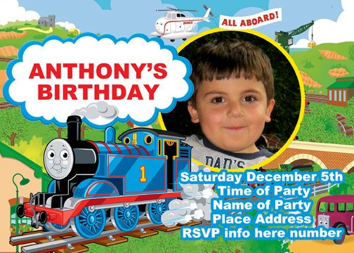 Thomas birthday invitations template bagvania free printable thomas birthday invitations template filmwisefo Gallery