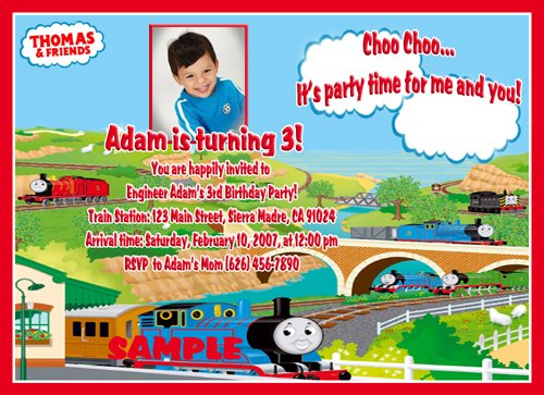 Thomas Birthday Invitations Wording