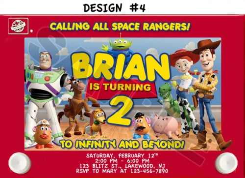 toy story 2nd birthday party invitations