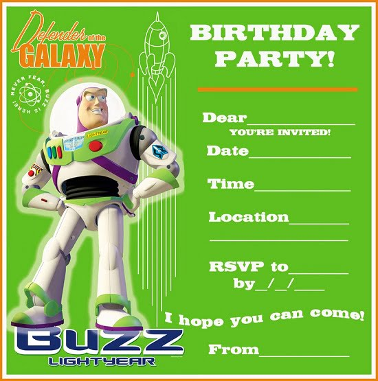 toy story birthday party invitations free printable