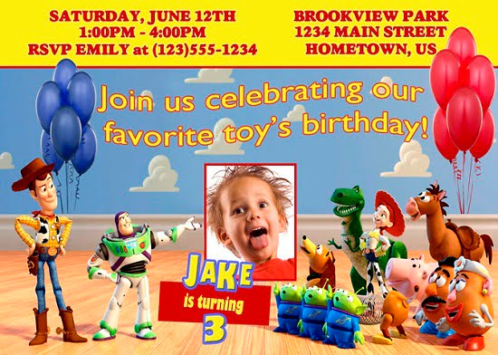 toy story birthday party invitations wording