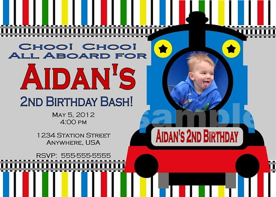 Train Birthday Party Invitations Ideas Bagvania FREE Printable – Thomas the Train Birthday Invites